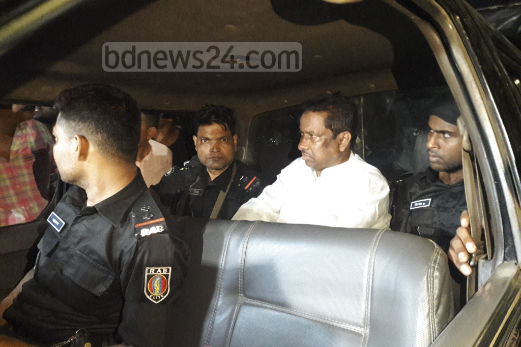 RAB arrested Kalabagan Krira Chakra President Shafiqul Alam Firoz during a raid on the sports club in Dhaka as part of a government crackdown on illegal casinos on Friday. Photo: Asif Mahmud Ove