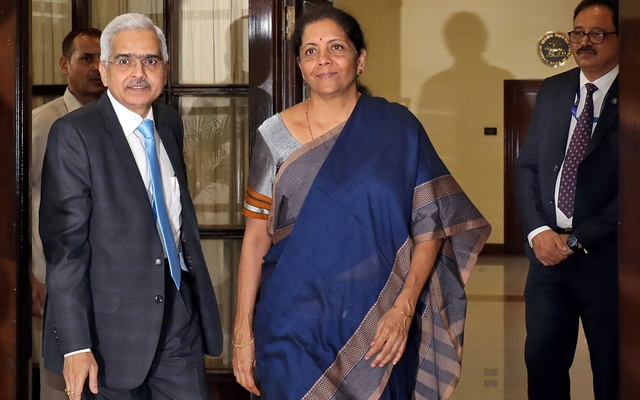 India's Finance Minister Sitharaman and RBI Governor Das arrive to attend the RBI's central board meeting in New Delhi. REUTERS