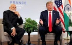 FILE PHOTO: US President Donald Trump speaks as he meets Indian Prime Minister Narendra Modi for bilateral talks during the G7 summit in Biarritz, France, August 26, 2019. Reuters
