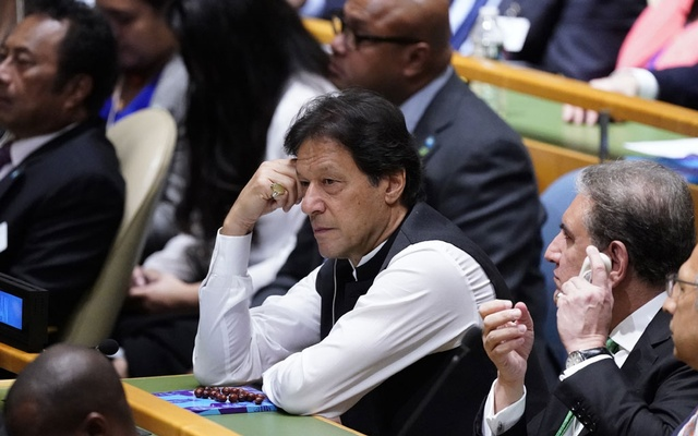 Pakistan's Prime Minister Imran Kahn attends the start of the 74th session of the United Nations General Assembly at UN headquarters in New York City, New York, US, September 24, 2019. REUTERS/Carlo Allegri
