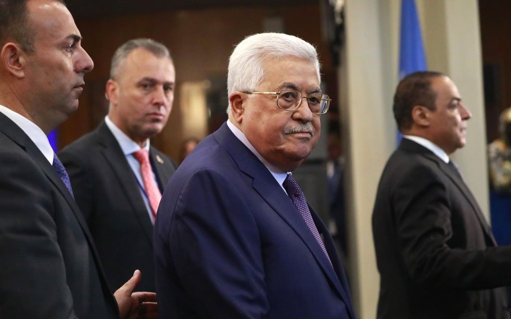 Palestinian President Mahmoud Abbas arrives ahead of the start of the 74th session of the United Nations General Assembly at UN headquarters in New York City, New York, US, September 24, 2019. REUTERS/Yana Paskova