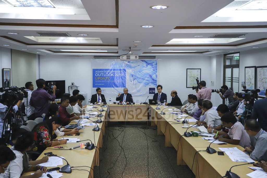 The Asian Development Bank published its report Asian Development Outlook 2019 in Dhaka's Agargaon on Wednesday. Photo: Asif Mahmud Ove