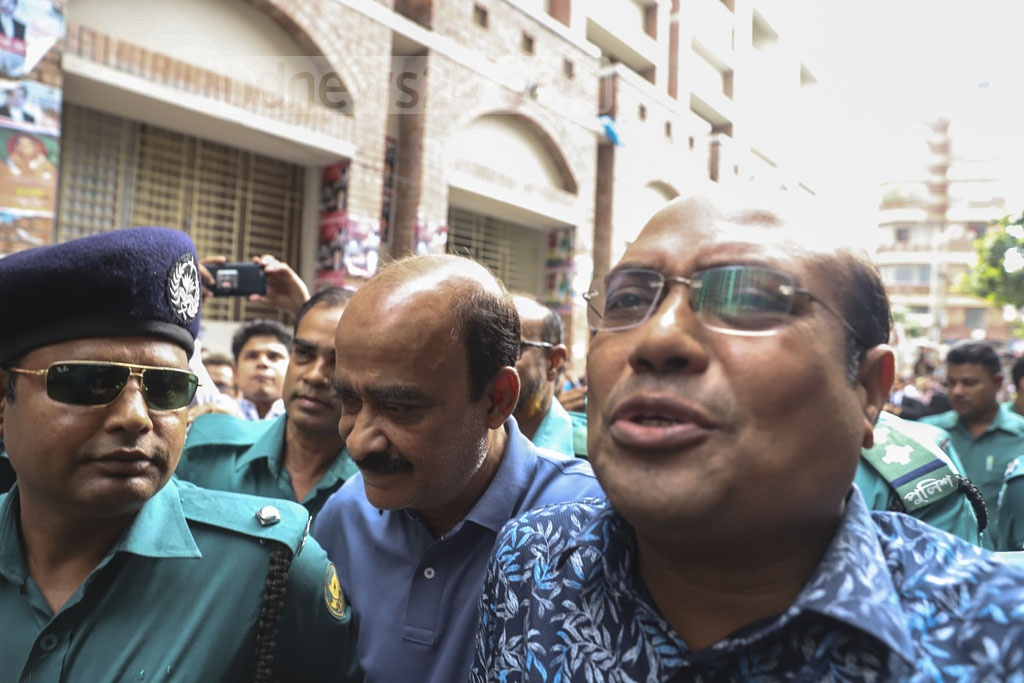 A Dhaka court has granted police two days' remand to question Mohammedan Sporting Club's Director-in-Charge Lokman Hossain Bhuiyan on Friday. Photo: Abdullah Al Momin