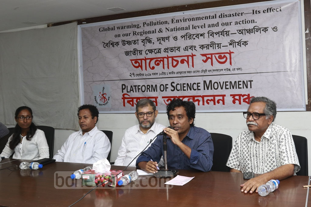 Speakers addressing a seminar at the National Press Club on Friday on the effects of global warming, pollution and environmental disaster and its remedies at the regional and national levels.