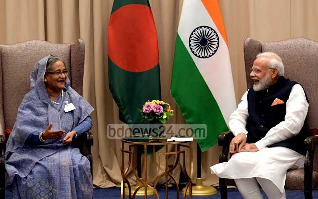 File Photo: Prime Minister Sheikh Hasina held a meeting with her Indian counterpart Narendra Modi in New York on the sidelines of the UN General Assembly on Sept 27.