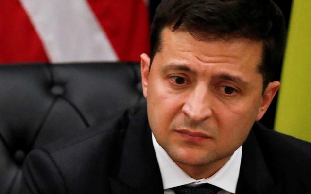 FILE PHOTO: Ukraine's President Volodymyr Zelenskiy listens during a bilateral meeting with US President Donald Trump on the sidelines of the 74th session of the United Nations General Assembly (UNGA) in New York City, New York, US, September 25, 2019. REUTERS