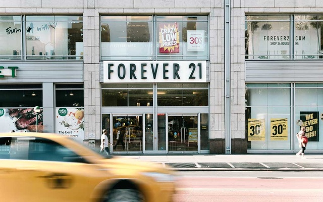 Forever 21's Union Square location in New York, Sept. 28, 2019. Forever 21, the California retailer that helped popularise fast fashion in the United States said it plans to file for bankruptcy and will close up to 182 stores in the United States and up to 350 over all. (Haruka Sakaguchi/The New York Times)