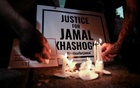 The Committee to Protect Journalists and other press freedom activists hold a candlelight vigil in front of the Saudi Embassy to mark the anniversary of the killing of journalist Jamal Khashoggi at the kingdom's consulate in Istanbul, Wednesday evening in Washington, US, October 2, 2019. REUTERS