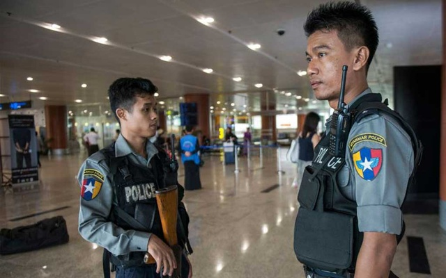 Heightened security seen at Yangon International Airport on Friday after the US Embassy warned of potential attacks in Yangon, Mandalay and Nay Pyi Taw. The Myanmar Times