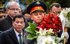 FILE PHOTO: Philippine President Rodrigo Duterte attends a wreath laying ceremony at the Tomb of the Unknown Soldier in Moscow, Russia, Oct 4, 2019. REUTERS