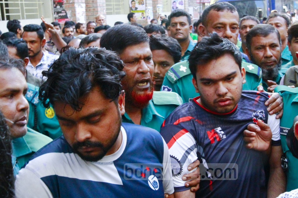 Police took to court detained 10 members of Bangladesh Chhatra League's BUET chapter on Tuesday, seeking a 10-day remand to grill them over the murder of Abrar Fahad, a student of the university.