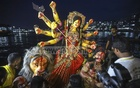 Sharodiyo Durgotsob ends with the immersion of the goddess' idols on Tuesday. Photo: Asif Mahmud Ove
