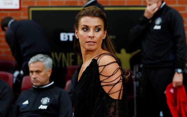 FILE PHOTO: Coleen Rooney, wife of former Manchester United and England footballer Wayne Rooney, attends a testimonial match for her husband at Manchester United's Old Trafford stadium, August 3, 2016. Action Images via Reuters / Jason Cairnduff Livepic