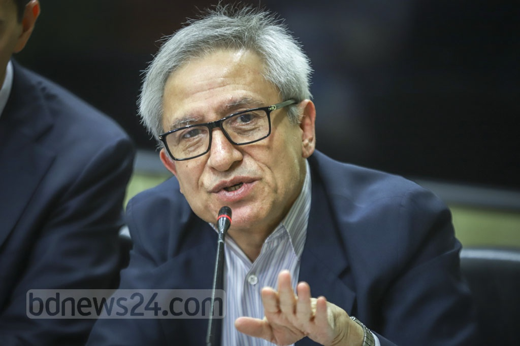 Dr Zahid Hussain, World Bank's former lead economist, speaks during the launch of a report titled 'Bangladesh Development Update October 2019: Tertiary Education and Job Skills' at its Agargaon office in Dhaka on Thursday. Photo: Asif Mahmud Ove