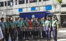 Police produce Chhatra League leader Amit Saha and Hossain Mohammed Toha before the Dhaka Metropolitan Magistrate's Court on Friday to seek a remand order to grill them over the murder of BUET student Abrar Fahad.