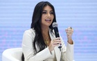 Reality TV personality Kim Kardashian speaks at a public discussion during the World Congress on Information Technology (WCIT 2019) in Yerevan, Armenia October 8, 2019. Vahram Baghdasaryan/Photolure via REUTERS