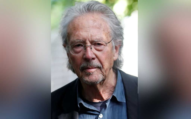 FILE PHOTO: Austrian author Peter Handke is pictured at his house, following the announcement he won the 2019 Nobel Prize for Literature, in Chaville, near Paris, France Oct 10, 2019. REUTERS