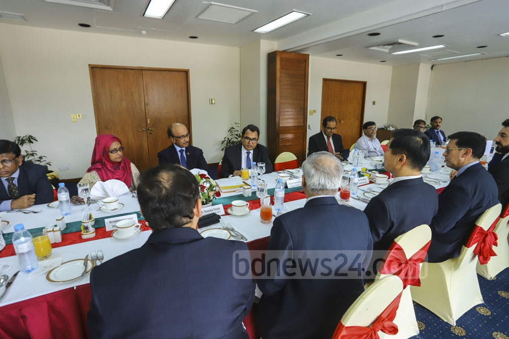 Asian Development Bank or ADB holding the annual meetings of the board of directors at the Sonargaon Hotel in Dhaka on Sunday. Photo: Asif Mahmud Ove