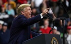 US President Donald Trump holds a campaign rally in Minneapolis, Minnesota, US, October 10, 2019. REUTERS