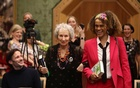 Margaret Atwood and Bernardine Evaristo jointly win the Booker Prize for Fiction 2019 at the Guildhall in London, Britain Oct 14, 2019. REUTERS