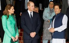 Britain's Prince William and Catherine, Duchess of Cambridge, talk with Pakistan's Prime Minister Imran Khan as they leave after a meeting in Islamabad, Pakistan Oct 15, 2019. REUTERS