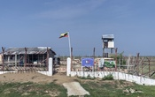 A security base built on the site of a massacre at what once was the Rohingya town of Rathedaung, Myanmar, on May 29, 2019. The Myanmar government insists that the ethnic cleansing of the Rohingya Muslims never happened.