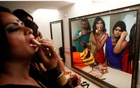 Participants get ready backstage before the start of a transgender/transsexual fashion show in Chandigarh, India, Nov 18, 2016. REUTERS/Ajay Verma
