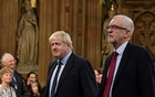 Prime Minister Boris Johnson of Britain, centre, was meeting with other European leaders in Brussels on Thursday. The New York Times