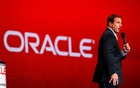 FILE PHOTO: Oracle CEO Mark Hurd speaks to the audience at Oracle Open World in San Francisco, California, US, September 22, 2010. Reuters