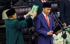 Indonesian President Joko Widodo is sworn in during his presidential inauguration for the second term, at the House of Representatives building in Jakarta, Indonesia, October 20, 2019. Adi Weda/Pool via REUTERS