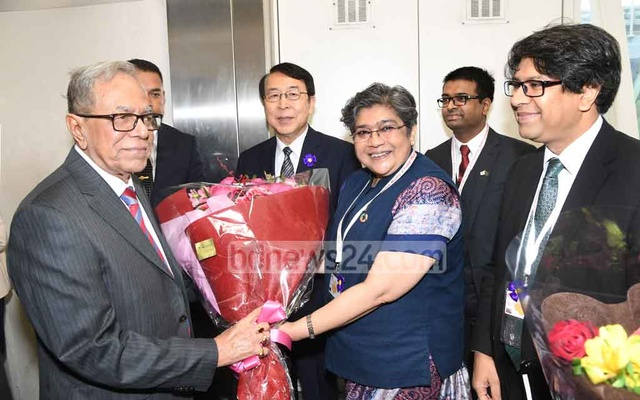 President Abdul Hamid arrives in Tokyo