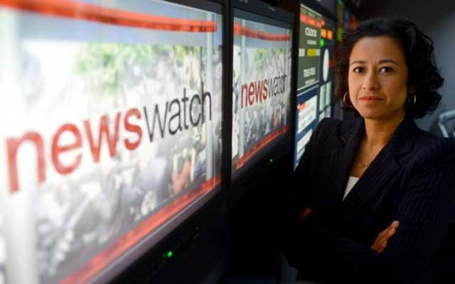 Samira Ahmed presents Newswatch on BBC One and BBC News and Radio 4's Front Row and was a Channel 4 News presenter. Photo: BBC via Twitter