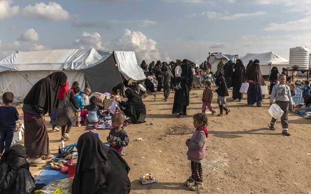 Women and children who fled the Islamic State in the foreigners section at the Kurdish-controlled al-Hol camp in northern Syria, Mar 28, 2019. Analysts say that President Donald Trump's pullout of American troops from northern Syria has handed the Islamic State its biggest win in more than four years. The New York Times