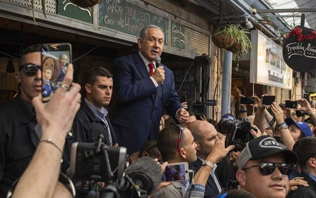 File Photo: Prime Minister Benjamin Netanyahu of Israel visiting a market in Jerusalem on Monday, Apr 8, 2019. The New York Times