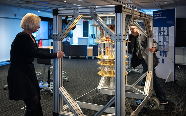 File Photo: The IBM Q System One quantum computer in Yorktown Heights, NY, on Oct 18, 2019. The New York Times