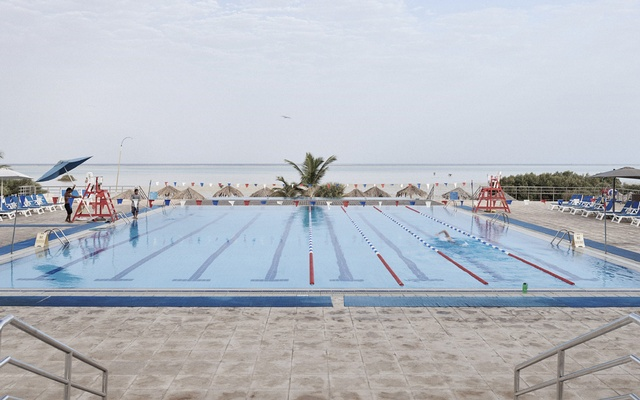 A pool at the Island Recreation Centre along the Red Sea in Thuwal, Saudi Arabia, Oct 2019. As more places face a scarcity of fresh water, desalination is seen as a possible answer. But energy and financial requirements limit how widely it can be used. The New York Times