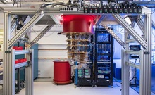 """A photo provided by Google of its quantum computer machine, which the company says only needs a few minutes to perform a task that would take a supercomputer at least 10,000 years. Google said on Wednesday, Oct. 23, 2019, that it had achieved a long-sought breakthrough called """"quantum supremacy,"""" which could allow new kinds of computers to do calculations at speeds that are inconceivable with today's technology. (Google via The New York Times)"""