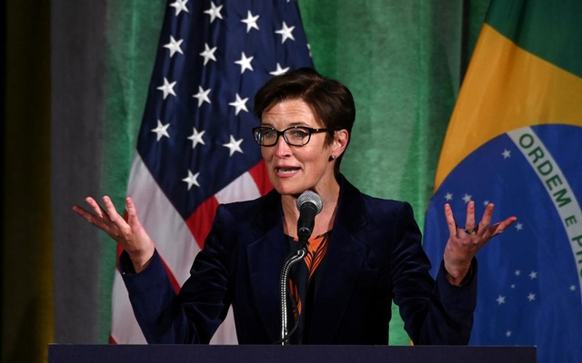 FILE PHOTO: Citigroup Latin America CEO Jane Fraser addresses a Brazil-US Business Council forum to discuss relations and future cooperation in Washington, US March 18, 2019. Reuters