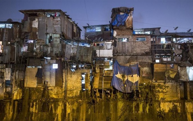 File Photo: Windows of various shanties in Dharavi, one of Asia's largest slums, are seen in Mumbai Jan 28, 2015. REUTERS