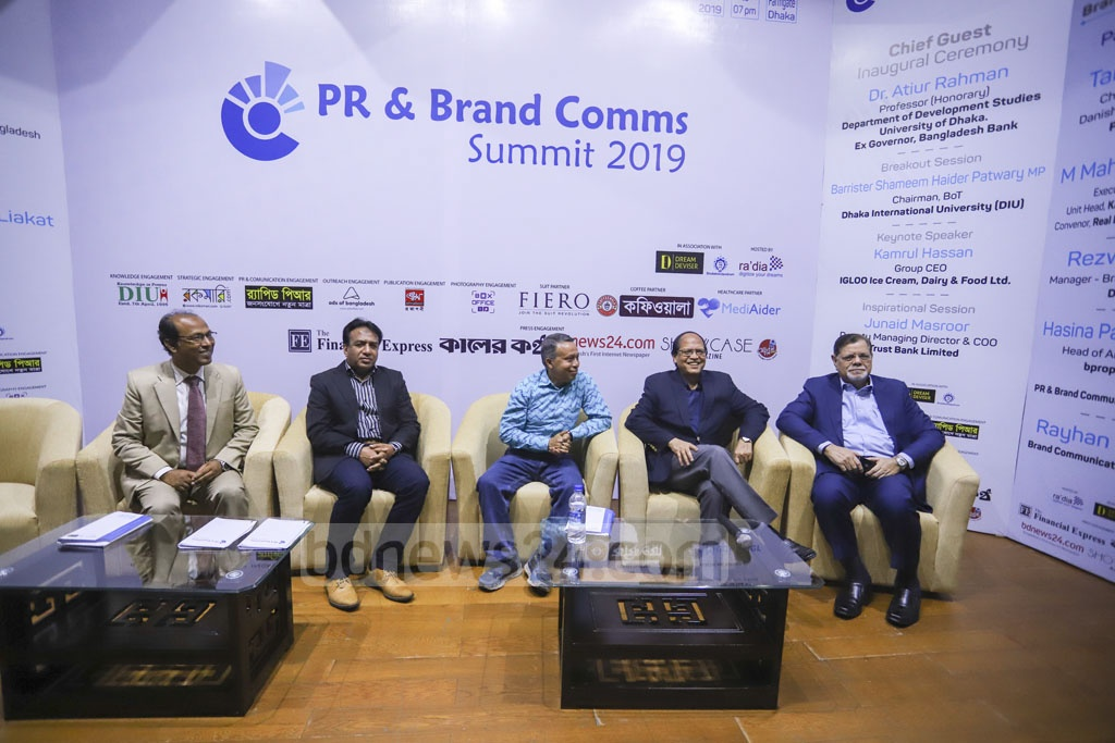 Executives attend the day-long 'PR and Brand Comms Summit 2019' aimed at uplifting the skills of public relations, media management and brand communications strategies at the capital's KIB auditorium on Saturday. Photo: Asif Mahmud Ove