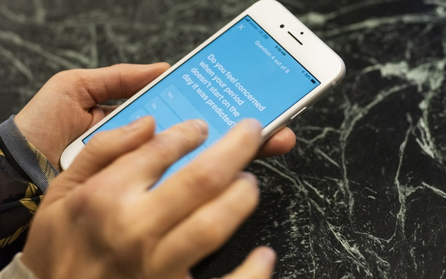 The Flo period-tracking app, in San Francisco, Oct 9, 2019. Apps like Flo and Clue are shifting from just tracking your health data to using it to make evaluations about your health risks. Their tools may not always be accurate. The New York Times