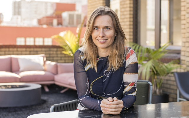 Kamila Staryga, vice president of product for Flo, in San Francisco, Oct 9, 2019. The New York Times