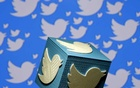 A 3D-printed logo for Twitter is seen in this picture illustration made in Zenica. REUTERS
