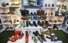 Representational Image: A stall of footwear and other leather goods at BLLISS, a Leathertech fair, at the International Convention City Bashundhara. Photo: Asif Mahmud Ove