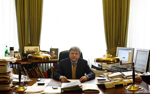 Sandor Csanyi, chairman of OTP Bank, one of the nation's most important financial institutions, in his office in Budapest, Hungary, on Mar 23, 2009. The New York Times
