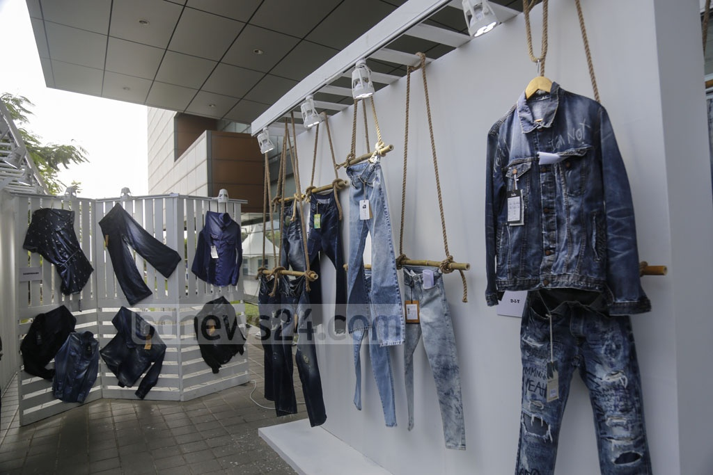 A stall at the Bangladesh Denim Expo 2019 in Dhaka. Photo: Mahmud Zaman Ovi