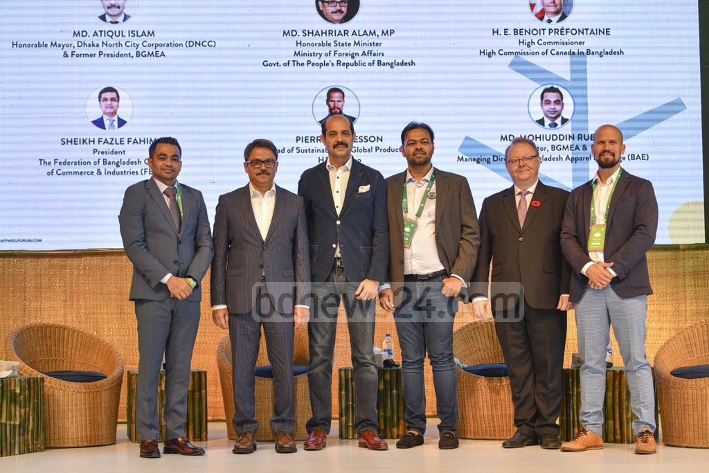 Dhaka North Mayor Atiqul Islam and State Minister for Foreign Affairs Md Shahriar Alam attended the inauguration ceremony of the Bangladesh Denim Expo at the International Convention City Bashundhara in Dhaka on Tuesday. Photo: Mahmud Zaman Ovi
