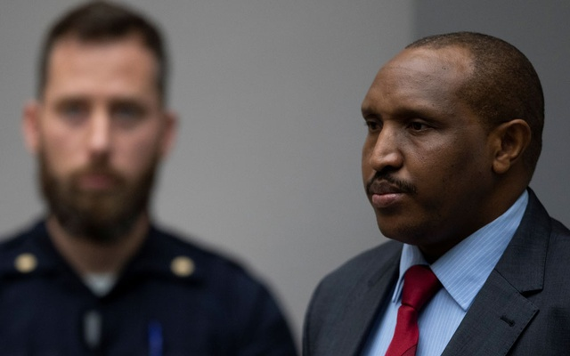 Congolese militia commander Bosco Ntaganda rises as judges enter the courtroom of the International Criminal Court (ICC) in The Hague, Netherlands Nov 7, 2019. REUTERS