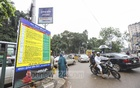 Billboards containing provisions of the new transport law have been installed in various parts of Dhaka on Monday to create awareness on traffic rules. Photo: Asif Mahmud Ove