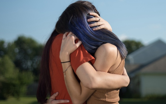 F and E (Identities withheld), 17 and 21-year-old sisters from the midwest and survivors of child sexual abuse, in 2019. Online platforms bar child sexual abuse imagery on the web, but criminals are exploiting gaps and the industry has consistently failed to take aggressive steps to shut it down. Victims are caught in a living nightmare, confronting images again and again. The New York Times